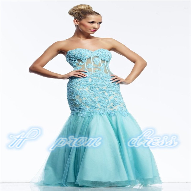New sexy Lace & Tulle Long Mermaid Cocktail Formal Prom Dress Party Gown