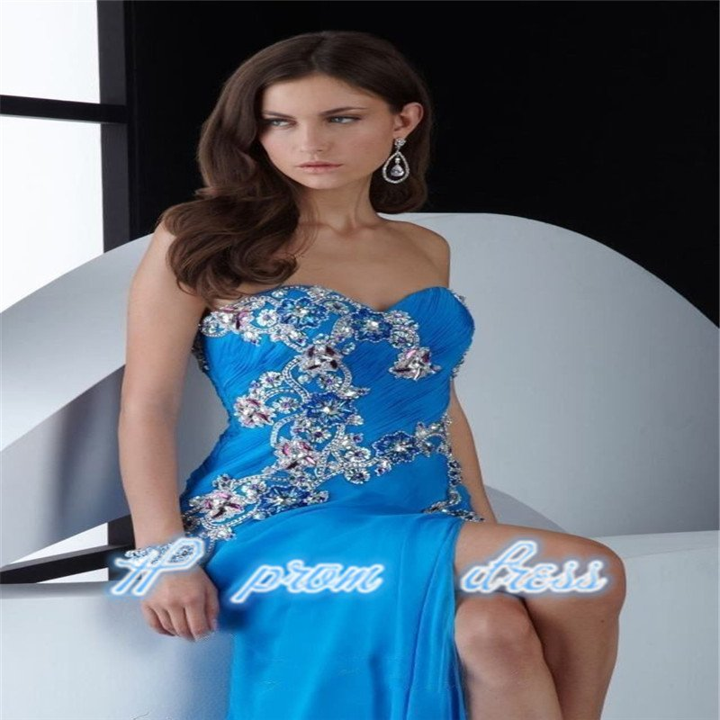 Sexy Elegant Strapless Sweetheart Prom Party Celebrity Evening Dresses
