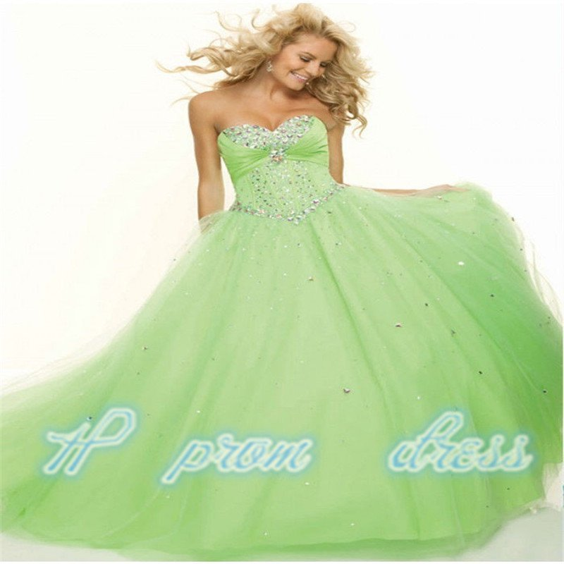 New Green Formal Prom Party Ball Gown Bridesmaid Quinceanera Dress Size 2---28++