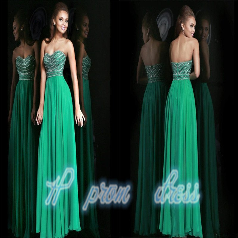 New Crystal Beaded Long Red Formal Evening Gowns Party Prom Dresses Custom Size