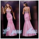 New Long Elegant Pink Party Formal Evening Prom Cocktail Dresses Wedding Gown