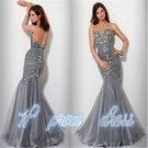 Long Rhinestone Mermaid Prom Formal Party Evening Pageant Dresses