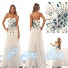 2015 New white/ivory lace wedding dress Gown custom