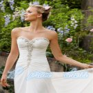 hot sale custom sweetheart bead chiffon prom evening celebrity wedding dresses