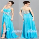 TURQUOISE UNIQUE PAGEANT PROM COCKTAIL DRESS HOMECOMING EVENING FORMAL