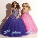 2015 New Pink/custom size/Ball gown/Evening/Prom Dress/Jeweled/A line/Quinceanera/Party