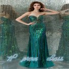 Custom Train Flamboyant Long Evening Dresses 2015 NEW Party Gowns