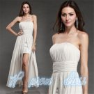 New Cocktail Long Strap Womens Party Prom Cocktail Wedding Evening Chiffon Dress