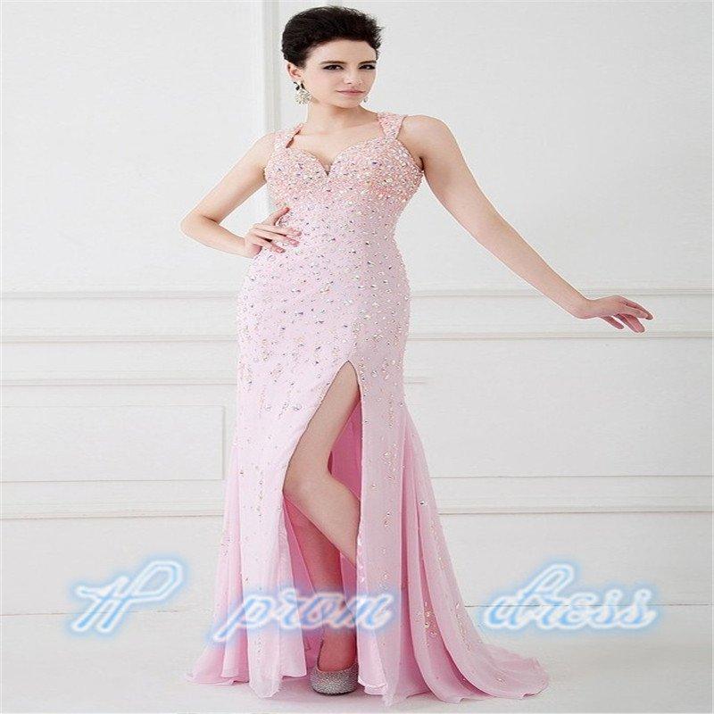 Floor Length Gown Sweetheart Split Leg Sheath Long Prom Dress 2015 Evening Gown