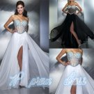 New Sexy Chiffon Beads Prom Dress Formal Party Evening Ball Dresses Wedding Gown