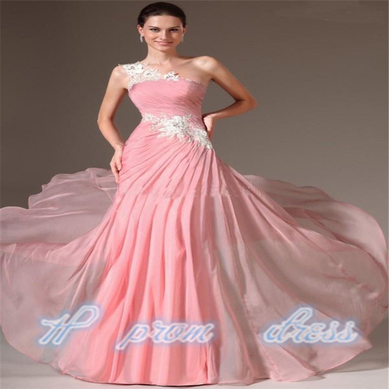 Long Chiffon Applique Ball Formal Evening Party Bridesmaid Dresses