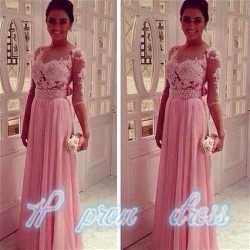Long Formal Evening Gown Lace Cocktail Party Prom Ball Dresses