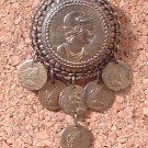 Pin Brooch Vintage 1930s Roman Greek Warrior Medallion Signed L/N for Little Nemo