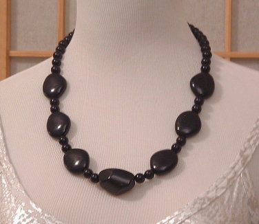 Necklace Black Chunky