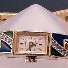 Watch Vintage 17 Jewel Rhinestone Enamel by Polcini