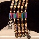 Bracelet Magnetic Hematite Wrap Bracelet-Necklace Multi Color