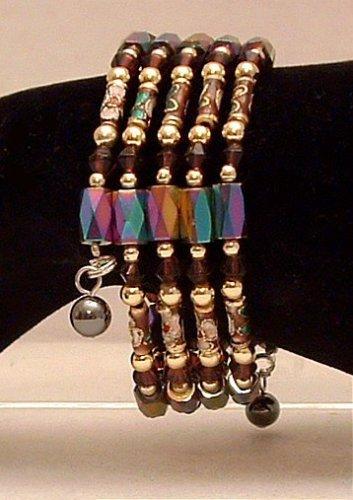 Bracelet Magnetic Hematite Wrap Bracelet-Necklace Multi Color