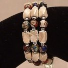 Bracelet Magnetic Hematite Wrap Bracelet-Necklace White Multi