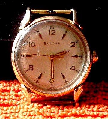 Watch Vintage 1954 10k Gold Filled 17 Jewel Men's Bulova Commodore