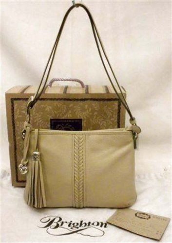 Brighton Tavi Tassel Zip Messenger Bag Tan Biscotti Leather H42152 NWT