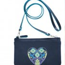 Brighton Summer Heart Navy Blue Mini Bag Cross Body Purse D23458 New