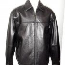 NWT 110235 Boston Harbour Men Med Black Top Grain Lambskin Leather Bomber Jacket