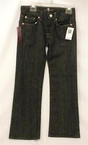 7 For All Mankind Girls Jeans Sz 7 Blue Mercer Denim Relaxed Boot Cut NWT 717100