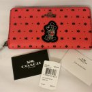 NWT Coach X Disney Accordion Zip Mickey Wallet/ Phone case Prairie Red Bandana F59340