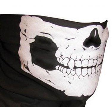 Skull Half Face Bandana Skeleton Ski Motorcycle Biker Paintball Mask