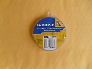 Sevenstrand 1 X 7 Stainless steel wire uncoated 100 FT 40 LB TEST FREE USA SHIP