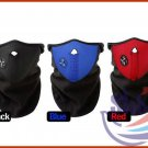 NEOPRENE FACE MASK WINTER SKI SNOWBOARD MOTORCYCLE BIKE WITH VELCRO BLACK