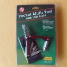 STAINLESS STEEL MULTI TOOL WITH LED LIGHT 9 TOOLS IN 1 HANDY GIFT ITEM
