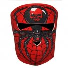Biker Motorcycle Ski Neoprene Full Face Mask Red Spider Skull FREE USA SHIPPING