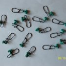 FISHING LINE SINKER SLIDES FOR BRAID 100 PCS GREEN / BLACK FREE USA SHIPPING