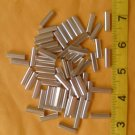 """SILVER 3/4"""" LONG  LEADER SLEEVE 120 - 280 LB TEST FOR COATED WIRE 50 PCS"""