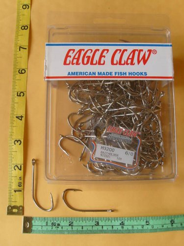 Eagle Claw fishhooks Saltwater size 6/0 LOT of 50 PCS
