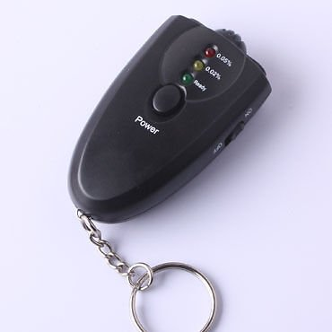 Personal Breathalyzer Keychain With Flashlight 1 PACK