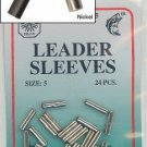 LEADER SLEEVES 48 PCS  size 5  2 bags of 24 pcs nickel