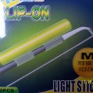 CLIP - ON LIGHT GLOW STICKS FLUORESCENT SIZE MEDIUM 5 RETAIL PACKS NIGHT FISHING