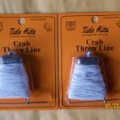 CRABBING TIDE  RITE CRAB THROW LINE - weighted WITH BAIT HOOK - PIN 2 PCS