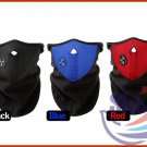 2 X NEOPRENE FACE MASK WINTER SKI SNOWBOARD MOTORCYCLE BIKE WITH VELCRO RED