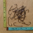 50 EAGLE CLAW BRONZE 1 X LONG FISH HOOK size 3/0