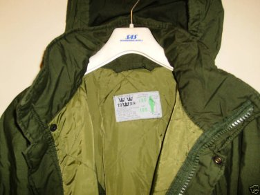 Swedish MIL M90 WINTER Field PARKA Jacket - LARGE TALL NEW FREE USA SHIPPING