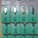 LURES Snapper Zapper Spoon SILVER BETTER ACTION THAN BRAND NAMES  1/4 OZ 6 PCS