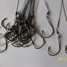 "Stainless Steel 40 LB Leader 10"" with Australian Octopus Circle hook 8/0 PCS 20"