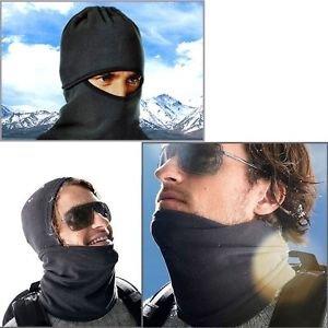 Full face and Neck Coverage Wraps Ski Snowboard Bike Motorcycle Warm, Black