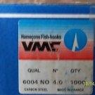 VMC CARBON STEEL SALMON HOOKS SIZE 4/0 NON OFFSET 35 PCS FREE USA SHIPPING