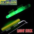 CLIP - ON LIGHT GLOW STICKS FLUORESCENT SIZE XXL 10 PACKS NIGHT FISHING