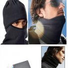 2 X Motor Bicycle Ski Hike Neck Face Warm Mask Black FLEECE FREE USA SHIPPING