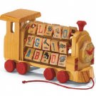 ALPHA/NUM WOOD BLOCK TRAIN